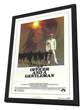 An Officer and a Gentleman - 11 x 17 Movie Poster - Style A - in Deluxe Wood Frame