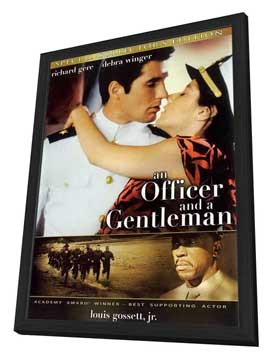 An Officer and a Gentleman - 27 x 40 Movie Poster - Style B - in Deluxe Wood Frame