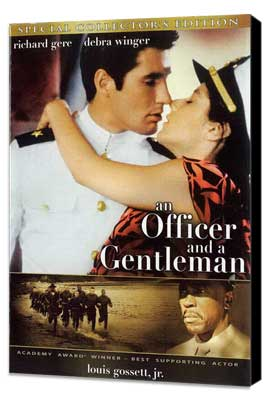 An Officer and a Gentleman - 27 x 40 Movie Poster - Style B - Museum Wrapped Canvas