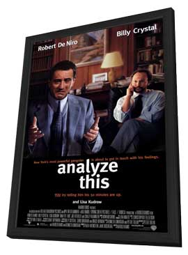 Analyze This - 27 x 40 Movie Poster - Style A - in Deluxe Wood Frame