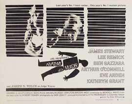 Anatomy of a Murder - 22 x 28 Movie Poster - Half Sheet Style B