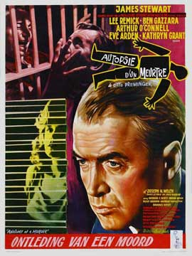 Anatomy of a Murder - 11 x 17 Movie Poster - Belgian Style A