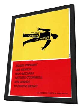Anatomy of a Murder - 11 x 17 Movie Poster - Style A - in Deluxe Wood Frame