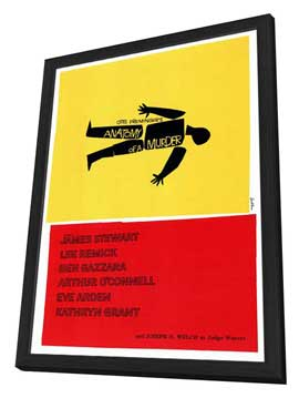 Anatomy of a Murder - 27 x 40 Movie Poster - Style A - in Deluxe Wood Frame