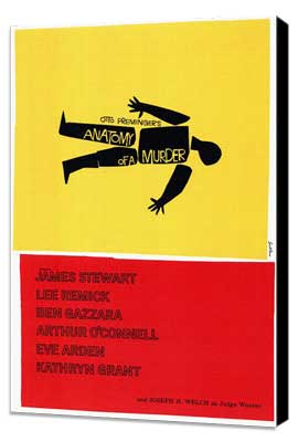 Anatomy of a Murder - 11 x 17 Movie Poster - Style A - Museum Wrapped Canvas