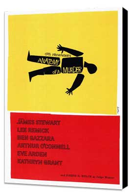 Anatomy of a Murder - 27 x 40 Movie Poster - Style A - Museum Wrapped Canvas