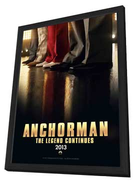 Anchorman 2: The Legend Continues - 11 x 17 Movie Poster - Style E - in Deluxe Wood Frame