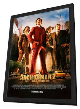 Anchorman 2: The Legend Continues - 11 x 17 Movie Poster - Style F - in Deluxe Wood Frame