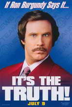 Anchorman: The Legend of Ron Burgundy - 27 x 40 Movie Poster - Style B