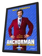 Anchorman: The Legend of Ron Burgundy - 11 x 17 Movie Poster - Style A - in Deluxe Wood Frame