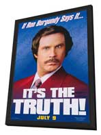 Anchorman: The Legend of Ron Burgundy - 27 x 40 Movie Poster - Style B - in Deluxe Wood Frame