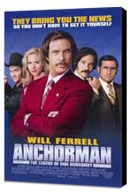 Anchorman: The Legend of Ron Burgundy - 11 x 17 Movie Poster - Style B - Museum Wrapped Canvas