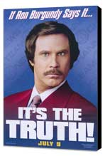 Anchorman: The Legend of Ron Burgundy - 11 x 17 Movie Poster - Style C - Museum Wrapped Canvas