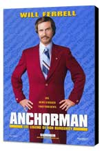 Anchorman: The Legend of Ron Burgundy - 27 x 40 Movie Poster - Style A - Museum Wrapped Canvas