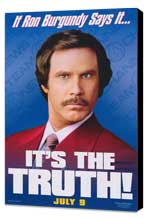 Anchorman: The Legend of Ron Burgundy - 27 x 40 Movie Poster - Style B - Museum Wrapped Canvas