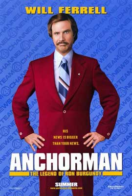 Anchorman: The Legend of Ron Burgundy - 11 x 17 Movie Poster - Style A