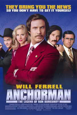 Anchorman: The Legend of Ron Burgundy - 11 x 17 Movie Poster - Style B