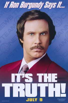 Anchorman: The Legend of Ron Burgundy - 11 x 17 Movie Poster - Style C