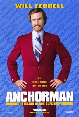 Anchorman: The Legend of Ron Burgundy - 27 x 40 Movie Poster - Style A