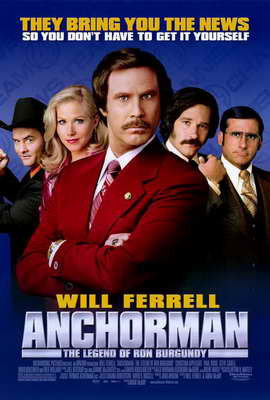 Anchorman: The Legend of Ron Burgundy - 27 x 40 Movie Poster - Style C