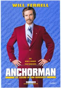Anchorman: The Legend of Ron Burgundy - 43 x 62 Movie Poster - Bus Shelter Style B