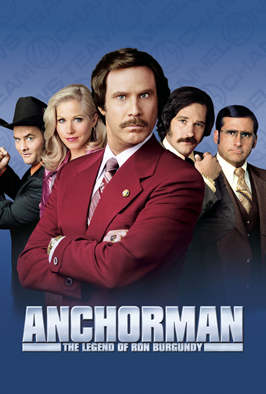 Anchorman: The Legend of Ron Burgundy - 27 x 40 Movie Poster - Style D