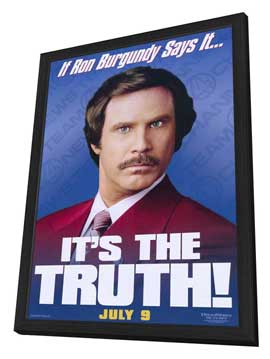 Anchorman: The Legend of Ron Burgundy - 11 x 17 Movie Poster - Style C - in Deluxe Wood Frame