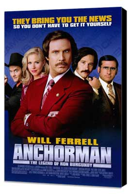Anchorman: The Legend of Ron Burgundy - 27 x 40 Movie Poster - Style C - Museum Wrapped Canvas