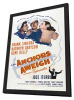 Anchors Aweigh - 27 x 40 Movie Poster - Style B - in Deluxe Wood Frame