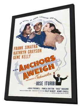 Anchors Aweigh - 11 x 17 Movie Poster - Style B - in Deluxe Wood Frame