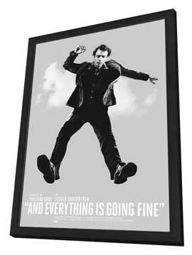 And Everything Is Going Fine - 11 x 17 Movie Poster - Style A - in Deluxe Wood Frame