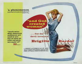And God Created Woman - 22 x 28 Movie Poster - Half Sheet Style A