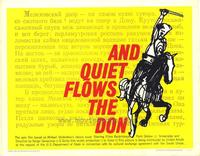 And Quiet Flows the Don - 22 x 28 Movie Poster - Half Sheet Style A
