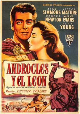 Androcles and the Lion - 11 x 17 Movie Poster - Spanish Style A
