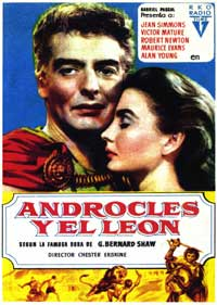 Androcles and the Lion - 27 x 40 Movie Poster - Spanish Style B