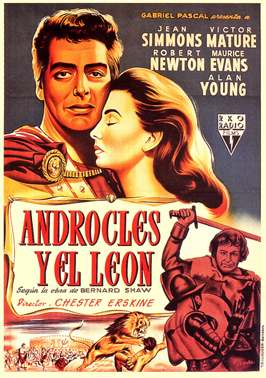 Androcles and the Lion - 11 x 17 Movie Poster - Spanish Style C