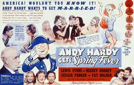 Andy Hardy Gets Spring Fever - 11 x 17 Movie Poster - Style B