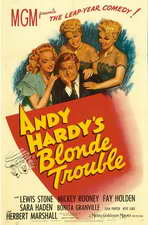 Andy Hardy's Blonde Trouble - 11 x 17 Movie Poster - Style A