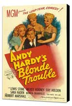 Andy Hardy's Blonde Trouble - 11 x 17 Movie Poster - Style A - Museum Wrapped Canvas