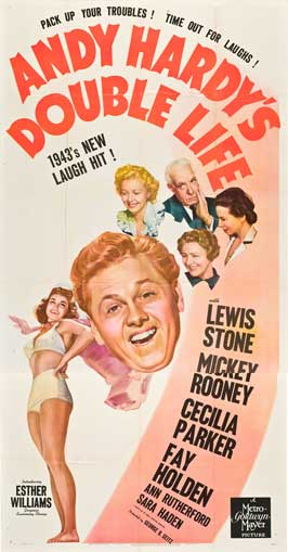 Andy Hardy's Double Life - 11 x 17 Movie Poster - Style B