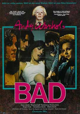 Andy Warhol's Bad - 11 x 17 Movie Poster - Style C
