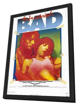 Andy Warhol's Bad - 11 x 17 Movie Poster - Style A - in Deluxe Wood Frame