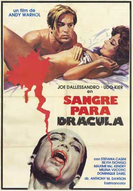 Andy Warhols Blood for  Dracula - 11 x 17 Movie Poster - Spanish Style A
