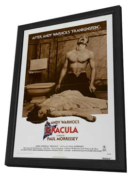 Andy Warhols Blood for  Dracula - 11 x 17 Movie Poster - Style F - in Deluxe Wood Frame