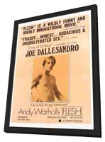 Andy Warhol's Flesh - 11 x 17 Movie Poster - Style E - in Deluxe Wood Frame