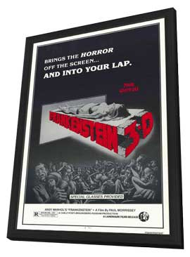 Andy Warhol's Frankenstein - 11 x 17 Movie Poster - Style A - in Deluxe Wood Frame