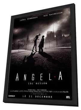 Angel-A - 27 x 40 Movie Poster - French Style A - in Deluxe Wood Frame