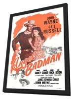 Angel and the Badman - 11 x 17 Movie Poster - Style B - in Deluxe Wood Frame