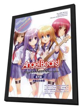 Angel Beats! - 27 x 40 Movie Poster - Japanese Style A - in Deluxe Wood Frame