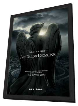 Angels and Demons - 11 x 17 Movie Poster - Style A - in Deluxe Wood Frame